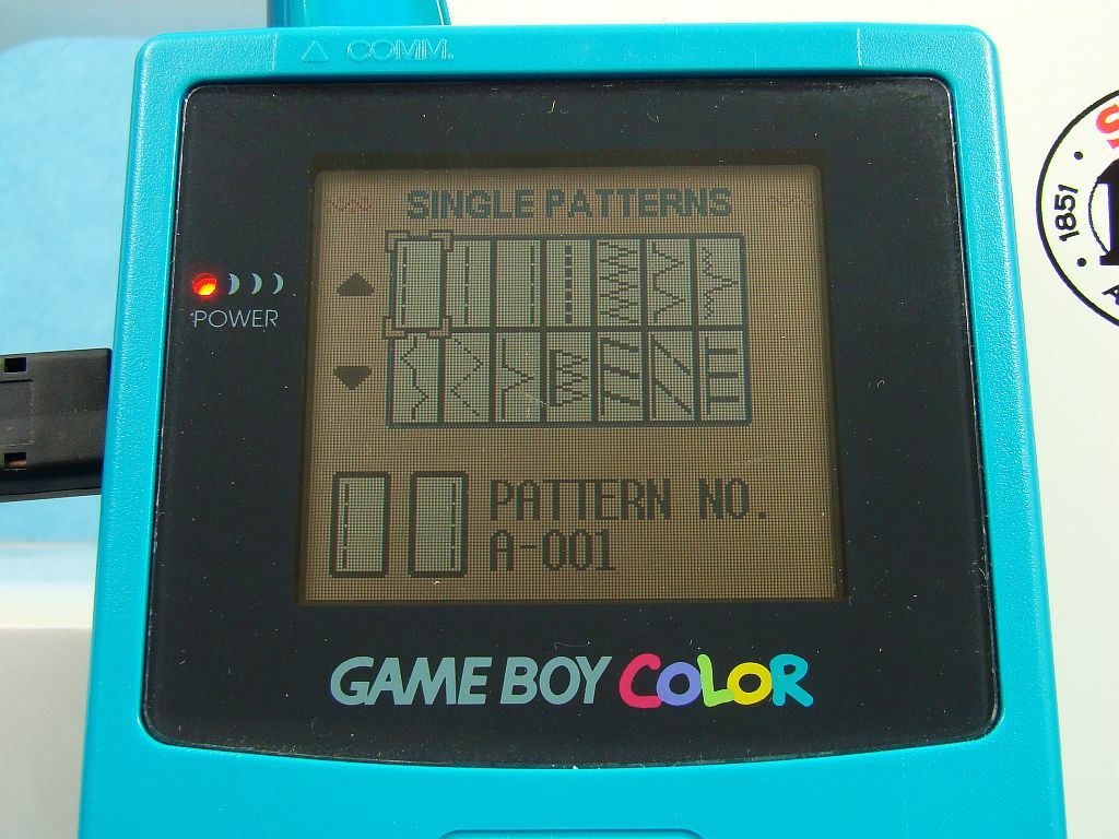 gameboy color sewing machine